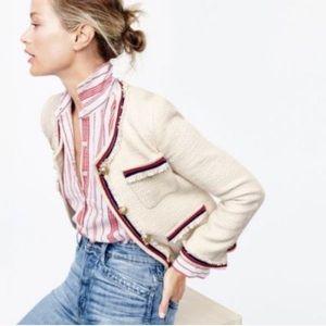 J.Crew Fringey tweed jacket size 6